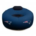 New England Patriots NFL Vinyl Inflatable Chair w/ faux suede cushions