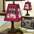 Cincinnati Reds MLB Art Glass Table Lamp