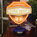Tennessee Vols NCAA College Neon Shield Table Lamp
