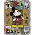 "Mickey Mouse Comic 48"" x 60"" Metallic Tapestry Throw"