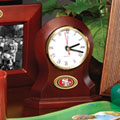 San Francisco 49ers NFL Brown Desk Clock