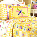 Flowerland Queen Comforter / Sheet Set