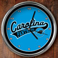 "Carolina Panthers NFL 12"" Chrome Wall Clock"