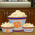 Clemson Tigers NCAA College Melamine 3 Bowl Serving Set