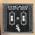 Chicago White Sox MLB Art Glass Double Light Switch Plate Cover