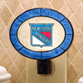 New York Rangers NHL Art Glass Nightlight