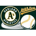 "Oakland Athletics MLB 20"" x 30"" Acrylic Tufted Rug"