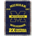 "Michigan Wolverines NCAA College ""Commemorative"" 48""x 60"" Tapestry Throw"