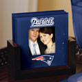 New England Patriots NFL Art Glass Photo Frame Coaster Set