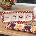 Georgia UGA Bulldogs NCAA College Gameday Ceramic Relish Tray