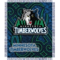 "Minnesota Timberwolves NBA 48"" x 60"" Triple Woven Jacquard Throw"