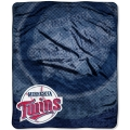 "Minnesota Twins MLB ""Retro"" Royal Plush Raschel Blanket 50"" x 60"""