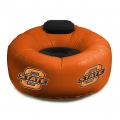 Oklahoma State Cowboys NCAA College Vinyl Inflatable Chair w/ faux suede cushions