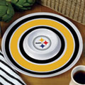 "Pittsburgh Steelers NFL 14"" Round Melamine Chip and Dip Bowl"