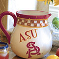 "Arizona State Sun Devils NCAA College 14"" Gameday Ceramic Chip and Dip Platter"