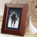 "New York Islanders NHL 10"" x 8"" Brown Vertical Picture Frame"