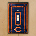 Chicago Bears NFL Art Glass Single Light Switch Plate Cover