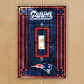 New England Patriots NFL Art Glass Single Light Switch Plate Cover
