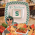 "Michigan State Spartans NCAA College 14"" Gameday Ceramic Chip and Dip Tray"