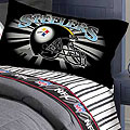 Pittsburgh Steelers Queen Size Pinstripe Sheet Set